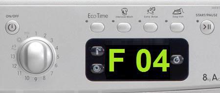 Как исправить ошибку F 04 в стиральных машинах Аристон