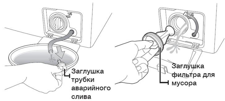 Как слить воду из стиральной машины - автомат