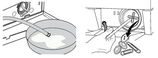 Фильтр сливного насоса засорен - надо чистить