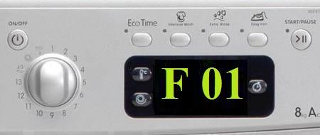 Все об ошибке F01 стиральной машины Аристон Хотпоинт