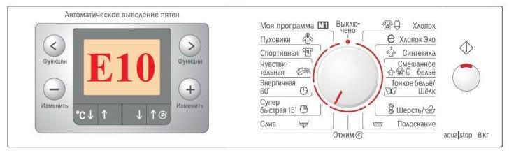 Ошибка Е10 стиральной машины Электролюкс