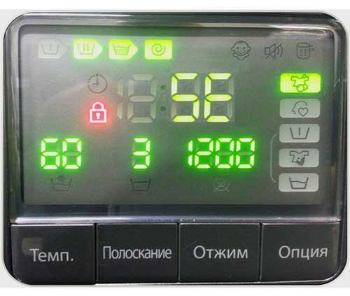 Ошибка SE стиральной машинки LG