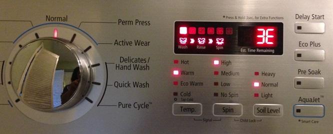 Что значит ошибка Е3 стиральной машины Горенье